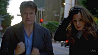 Castle & Beckett disarming a bomb in NY together